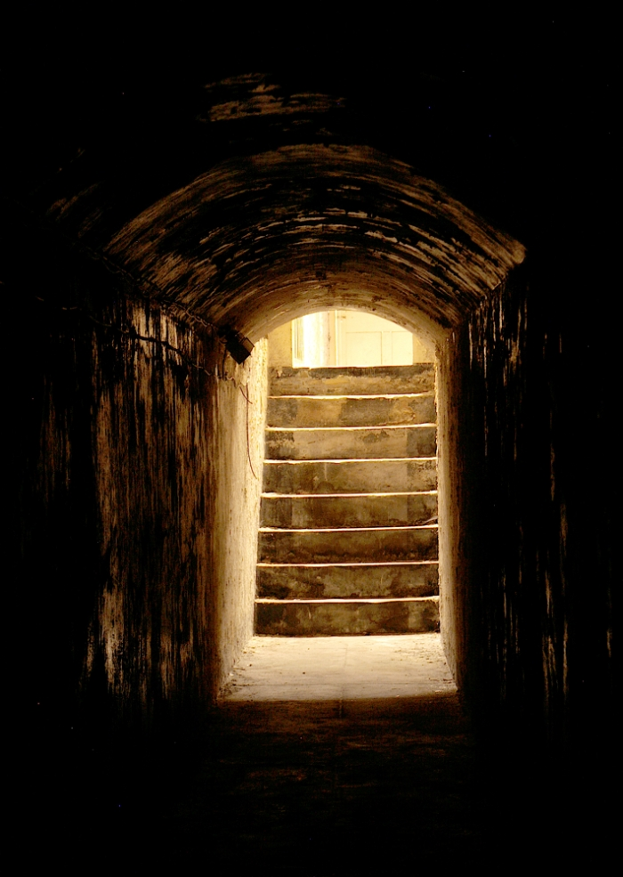 Section of an underground tunnel linking Oxford's courthouse with its prison