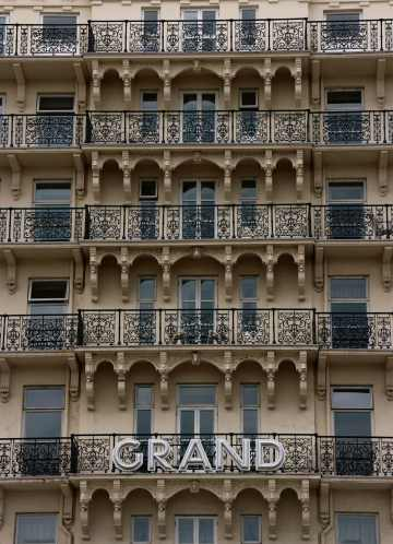 6. Balconies on Brighton's Grand Hotel, 1866