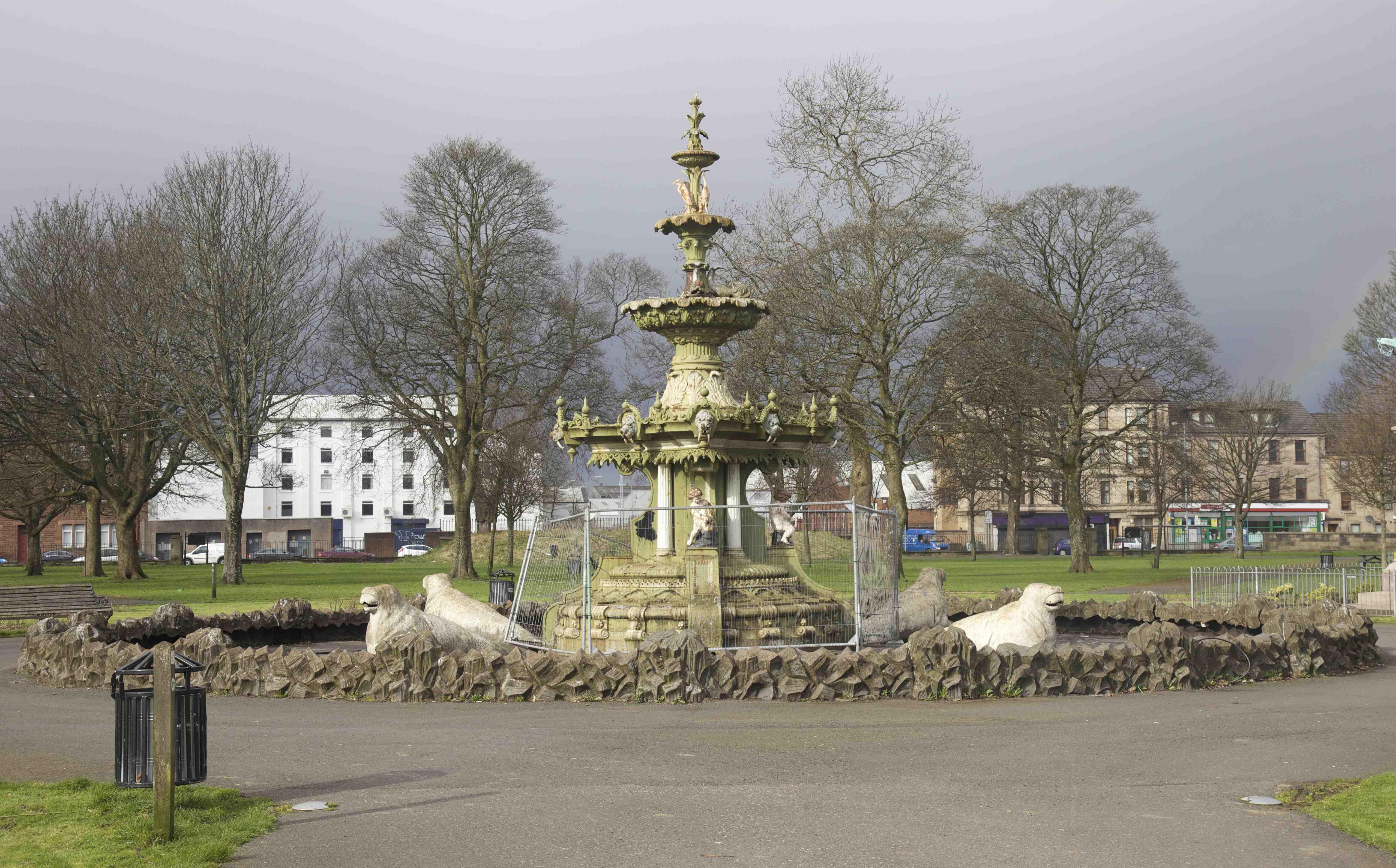 Utopian Ruins Fountain Gardens Paisley Rag Picking History