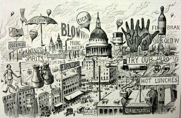 4. 'Picturesque London - or, sky-signs of the times', Punch, 6 September 1890, p. 119