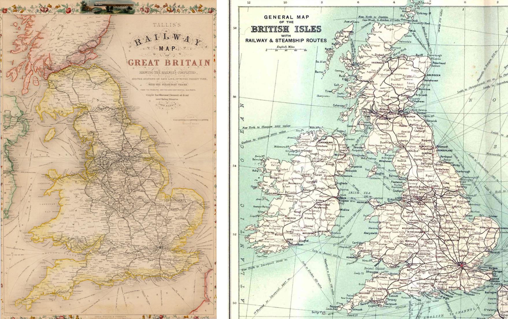 Map Of England Rail.Meta Ornament Railway Tracks Paul Dobraszczyk