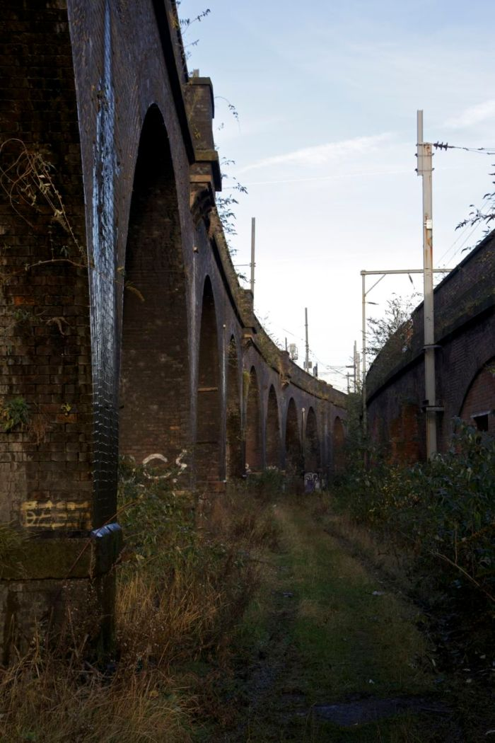 6. Railway viaducts marking the border between Salford and Manchester