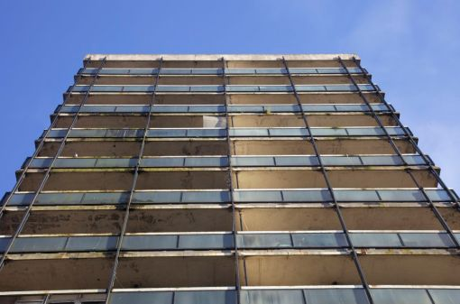8. Abandoned tower block in Ancoats