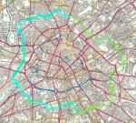 1. Second part of the nine-mile walk around inner Manchester and Salford (shown in turquoise)