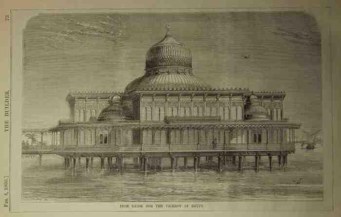 3. Iron bathing kiosk for the Viceroy of Egypt, The Builder, 1860