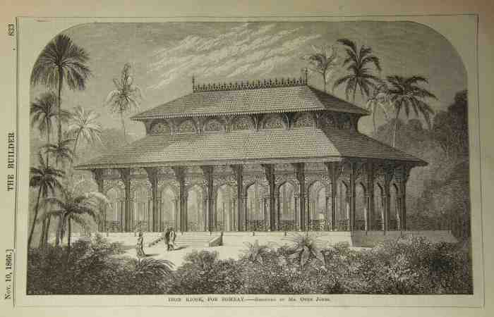 4. Iron kiosk for export to Bombay, The Builder, 1866