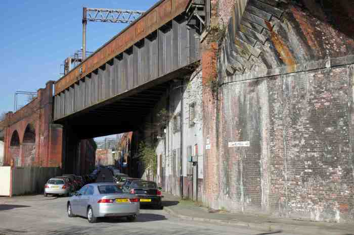 5. The second viaduct over Temperance Street.