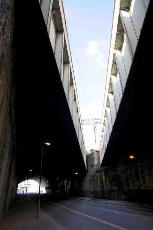 8. The split viaduct over Ashton Road.