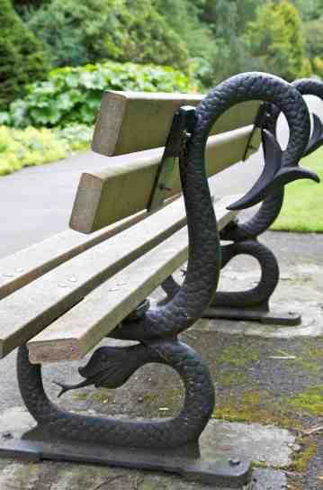 4. Bench in Valley Gardens, Harrogate, c.1880s.