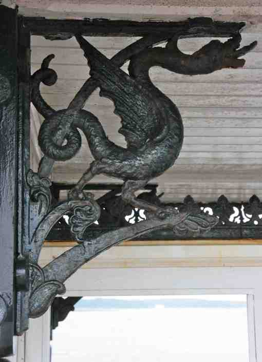 6. Wyvern bracket in the shelters on Ryde pier, 1880s.