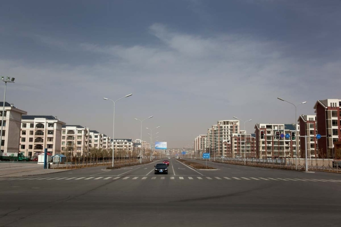 Empty quarter in the city of Ordos, China