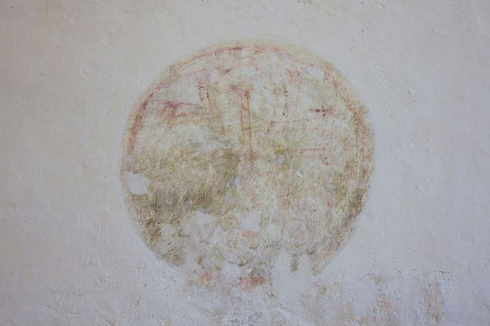 Remains of medieval wall paintings, St Michael's church, Up Marden