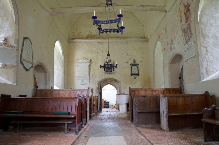 Interior of St Michael's church, Up Marden