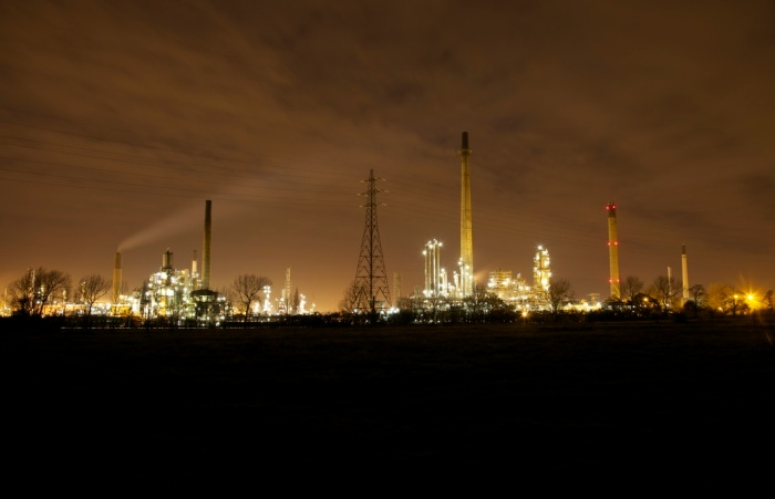 7. Stanlow by night