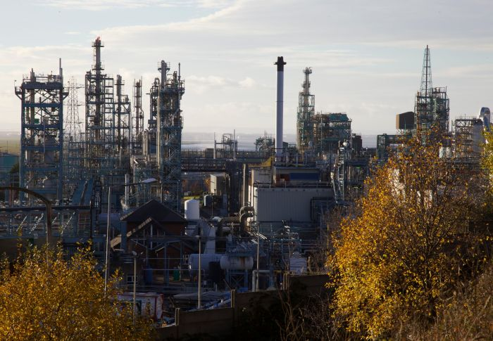 2. Runcorn's chemical works from the footpath.