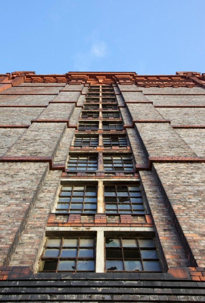 Regent Road facade of the Tobacco Warehouse.