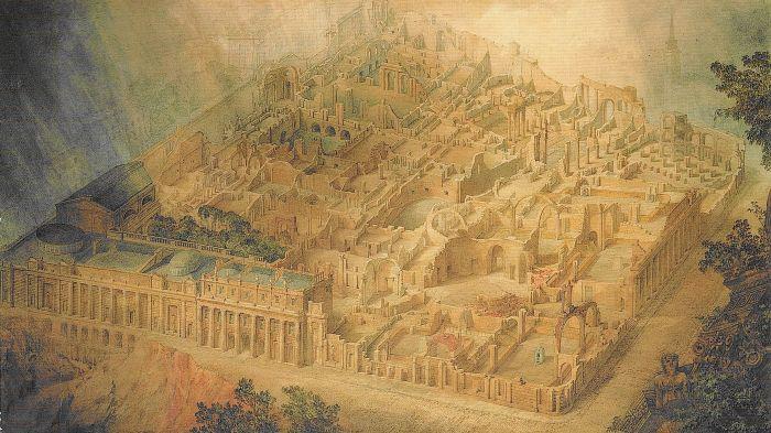 Joseph Gandy, 'A Bird's-eye view of the Bank of England', 1830