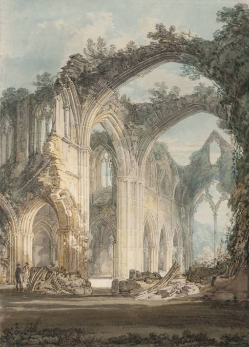 J M W Turner, 'The chancel and Crossing of Tintern Abbey', 1794