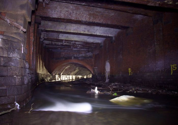 The Irk culvert under Victoria Station, Manchester