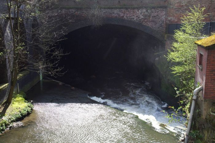 3. Entrance to the Irk culvert under the railway viaduct north of Victoria Station
