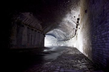 6. The immense brick-lined walls of the Irk culvert
