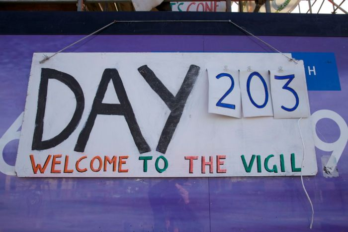 Day 203 of the vigil, 28 February 2013