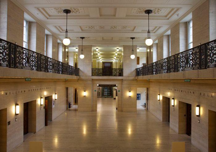 Pristine marble in the ground-floor interior