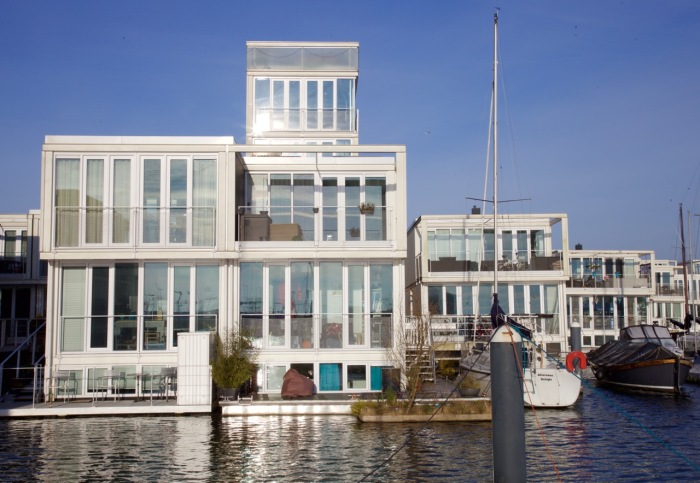 Modular floating houses, IJburg, Amsterdam, 2013