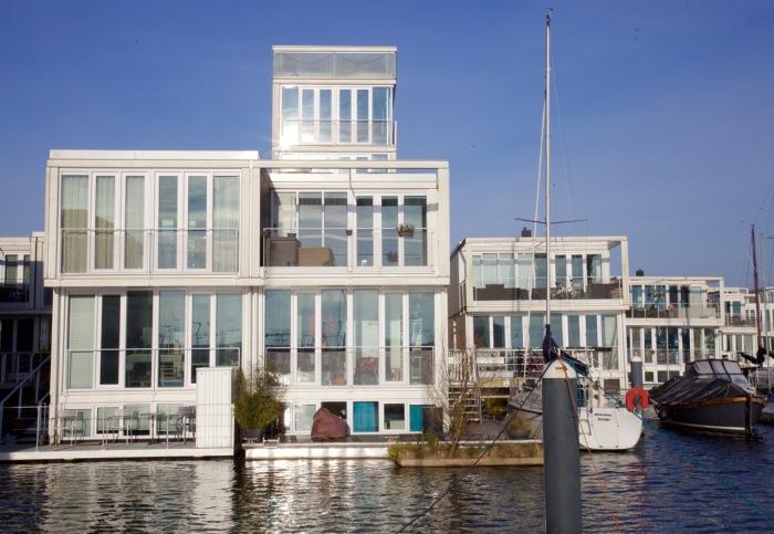 Modular floating houses, IJburg, Amsterdam, 2013