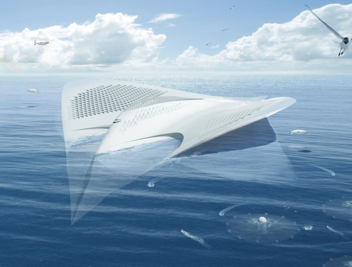 Jacques Rogueries' Manta-Ray floating city, 2013