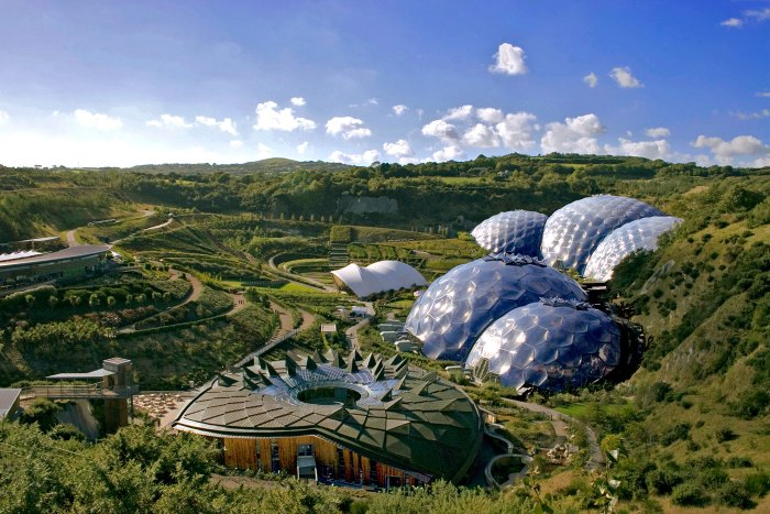 The Eden Project near St Austell, Cornwall, opened in 2003.