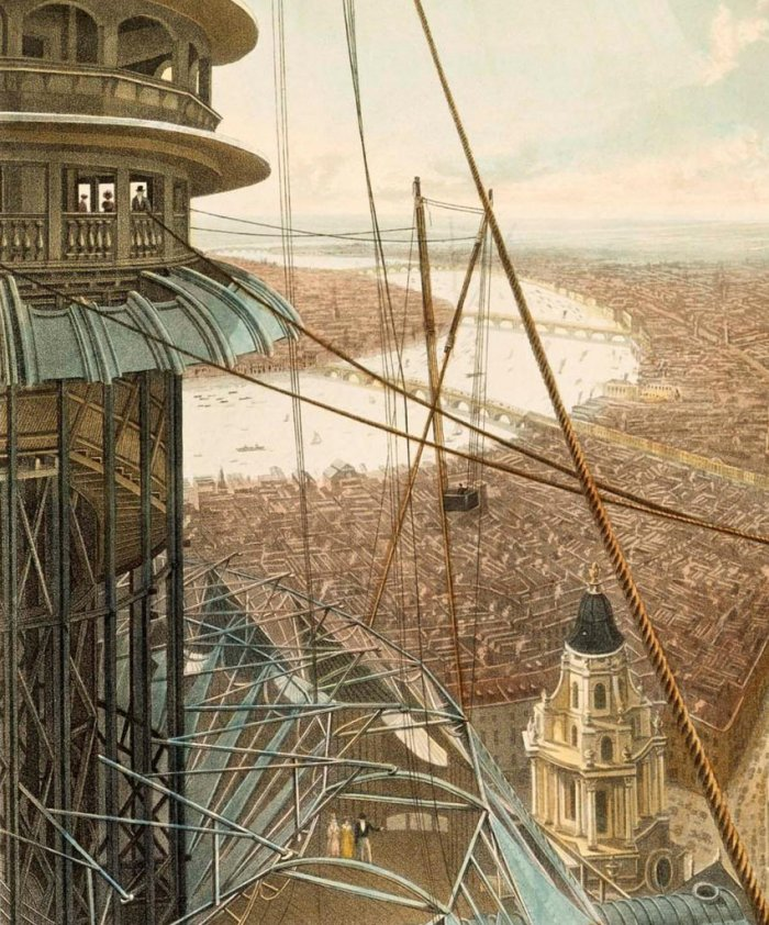 Painted panorama of London installed in the Colosseum in Regent's Park in 1827.