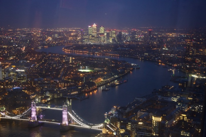 Tower Bridge and the Isle of Dogs beyond