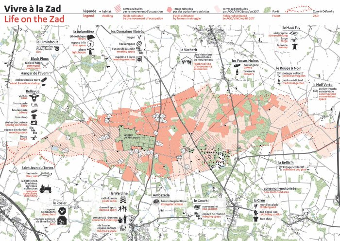 Map of ZAD